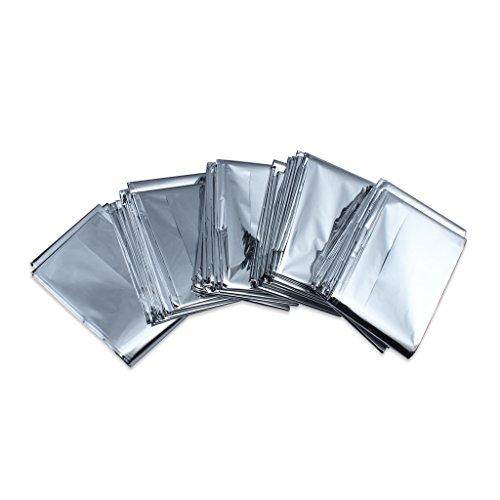 Pack Of 5 urgence couverture de survie Tente eau solaire de sauvetage thermique Foil Preuve Blanket