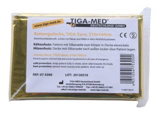 Test du Rettungsdecken Tiga-Med couvertures de survie