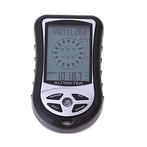 TOOGOO BaromèTre Portable 8-en-1 AltimèTre éLectronique à Main PêChe Alpinisme Boussole AltimèTre