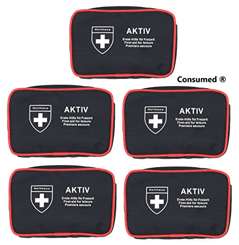 Consumed Holthaus Medical Lot de 5 Sacs de Pansement Actifs avec 24 Compartiments - dans Un Ensemble Exclusif